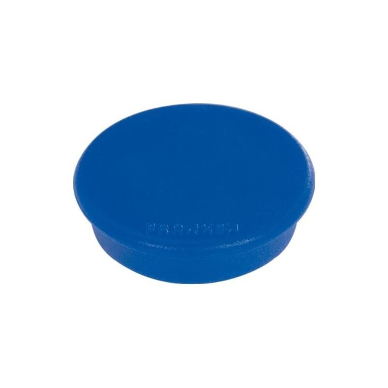 FRANKEN Lot de 10 aimants extra fort 38 mm H 12 mm anti-rayure Bleu