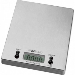 CLATRONIC Balance de cuisine KW 3367, charge: 5 kg, acier