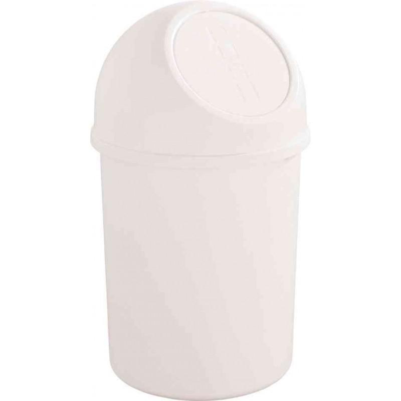 HELIT Poubelle à clapet Push 6 litres Diam 21cm H37,5 cm Blanc
