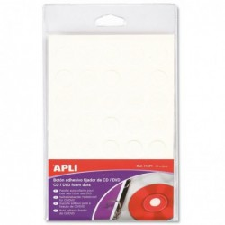 APLI Pochette 35 pastilles CD/DVD adhésives  Ø 15 mm