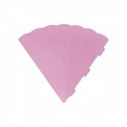 HEYDA Cornets surprise découpés, 6 cotés, 69 cm, rose