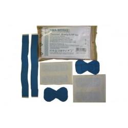LEINA-WERKE lot de pansement 40 pièces, elastiques/imperméables, Bleu