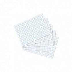 HERLITZ Lot de 100 Fiches bristol 170g A6 Quadrillées Blanc