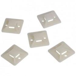 LOGILINK Lot de 100 Supports d'attaches de câble auto-adhésives 20 mm x 20 mm