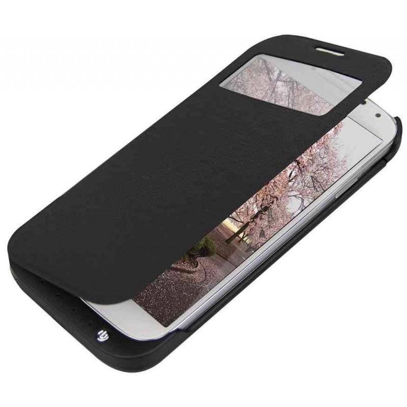 LOGILINK Housse avec batterie supplémentaire 3200 mAh pour Galaxy S4 Noir