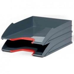 DURABLE Kit de 2 bacs à courrier VARIOCOLOR, gris / rouge