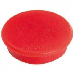 FRANKEN Set de 10 aimants de fixation, force adhésive: 1.500g, rouge, 38mm