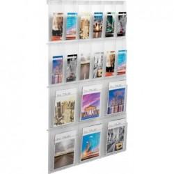 HELIT Présentoir mural PLACATIV, 6 compartiments format A4 + 12 compartiments 1/3 A4