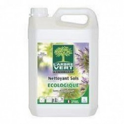 L'ARBRE VERT Bidon 5 Litres Nettoyant sols, sans colorant ni allergènes, parfum Romarin Ecolabel