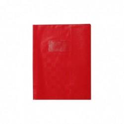 CALLIGRAPHE Protège-cahier Madras PVC 22/100e Avec Rabat Marque page 17x22 rouge