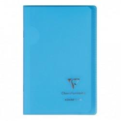 CLAIREFONTAINE Carnet Protège Cahier Koverbook 11x17 cm Polypro 96 Pages 90g Q.5x5 Coloris Aléatoire