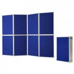 MAGNÉTOPLAN tableau de présentation, pliable surface en feutre bleu de 2 côtés