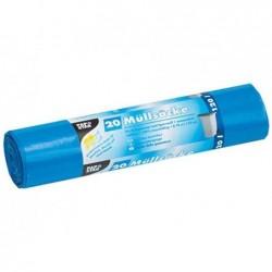 PAPSTAR Rlx de 10 Sacs poubelle HDPE 120 litres 110 x 70 cm, bleu