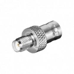 GOOBAY Adaptateur SMA Femelle BNC Femelle Contact Doré pour RG 174/U cable