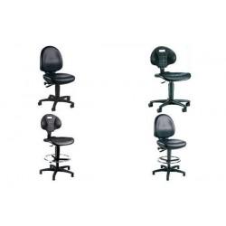 TOPSTAR chaise de travail TEC 50, similicuir, noir, sans