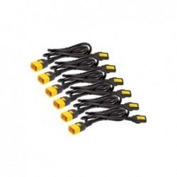 APC Câble d''alimentation - IEC 320 EN 60320 C13 - IEC 320 EN 60320 C14 - 1.22 m - noir (pack de 6 )
