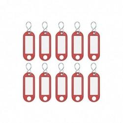 WEDO Porte-clés plastique crochet en S Rouge Lot de 10