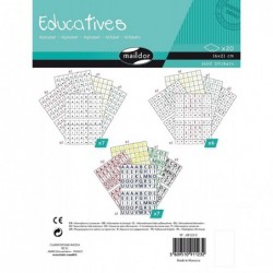 MAILDOR Lot de 20 Planches (1600 Etiquettes) Educatives Alphabet 16 x 21 cm