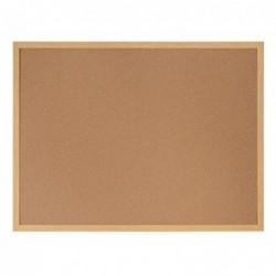 BI-SILQUE Tableau liège recyclable cadre finis bois 45x60 cm