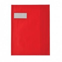 ELBA Protège-cahier Styl'SMS 17x22 cm pvc 120 avec Porte-étiquette Rouge