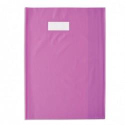 ELBA Protège-cahier Styl'SMS 24x32 cm pvc 120 avec Porte-étiquette Violet