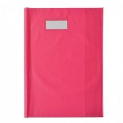 ELBA Protège-cahier Styl'SMS 24x32 cm pvc 120 avec Porte-étiquette Rose