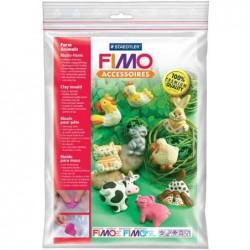 """FIMO Moule flexible pâte à modeler  9 motifs """"Animaux sur la ferme"""""""
