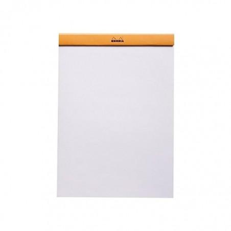 RHODIA Bloc de direction Orange 80 feuilles format A4 réglure unie