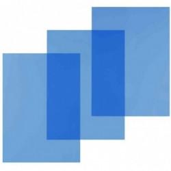 PAVO Pqt de 100 Couvertures pour Reliure A4 PVC 20/100eme Bleu Transparent