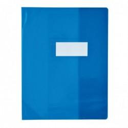 ELBA Protège-cahier PVC 150 Strong Line 24x32 cm Marque-page Translucide bleu