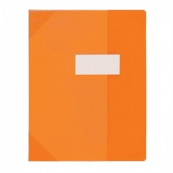 ELBA Protège-cahier PVC 150 Strong Line A4  (21x29,7 cm) Marque-page Translucide orange