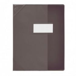 ELBA Protège-cahier PVC 150 Strong Line A4  (21x29,7 cm) marque page Translucide noir