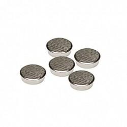 FRANKEN Lot de 5 Aimants de fixation Diam 25 mm super puissant 13Kg Chrome