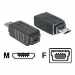 DELOCK Adapter DELOCK micro USB-B MâleUSB mini-B Femelle Noir