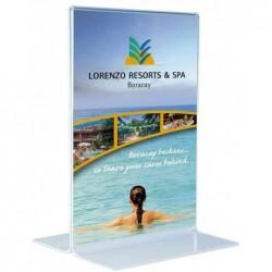 MAGNÉTOPLAN Présentoir de Table Acrylique Format Long hauteur 101x213 mm