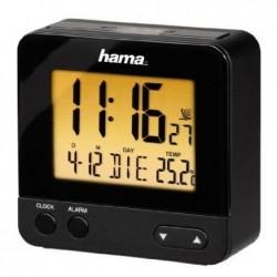"""HAMA Réveil radio-piloté (DCF) """"RC540"""" avec fonction de veilleuse nocturne Noir"""