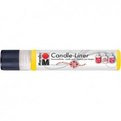 """MARABU Peinture pour bougies """"Candle Liner"""" 25 ml à base d'eau Argent métallique"""