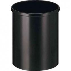 HELIT Corbeille à papier en acier, 15 litres, noir