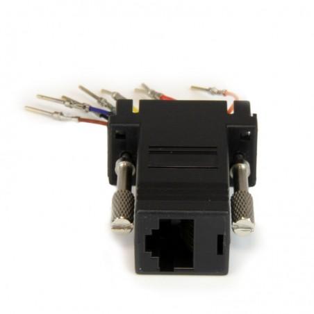 STARTECH.COM Adaptateur Modulaire DB9 Mâle vers RJ45 Femelle Gris