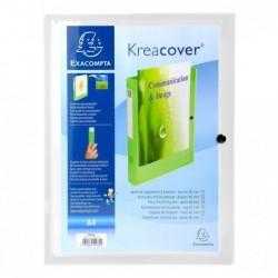 EXACOMPTA Boite de classement KREACOVER en polypropylene 7/10ème, coloris blanc