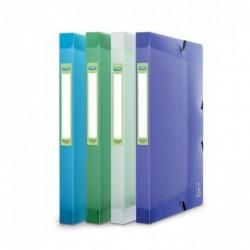 ELBA Boîte Classement 2nd Life 24x32cm PP 7/10e Dos de 2,5 cm Coloris Aléatoire Translucide