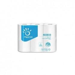 PAPERNET Paquet 6 rouleaux de Papier toilette en rouleau 2 plis pure cellulose,L22m blanc