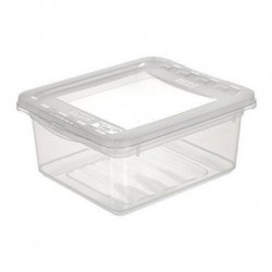 OKT Boîte de Rangement Plastique BASIXX 1,7 Litres Transparent