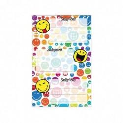 """HERLITZ Lot 3 x 3 Etiquettes pour livres SmileyWorld """"Rainbow"""" 80 x 42 mm"""