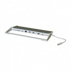 Station d'accueil USB3.0 type c lan+hdmi+hub+chargeur dp