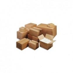 EMBALLAGE Paquet de 20 caisses américaine simple cannelure en kraft écru - Dimensions : 50 x 40 x 40 cm