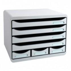 EXACOMPTA STORE-BOX MINI Bloc Classement 7 tiroirs Office gris lumière