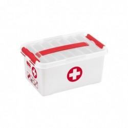 SUNWARE Boite rangement Pharmacie 6 Litres PP 30x20x14 cm avec Trieur Transparent