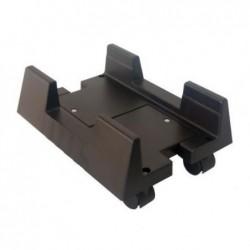 MCL SAMAR Support plastique pour Unité Centrale avec roulette Noir