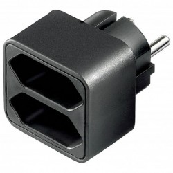 GOOBAY Multiprise 2 x euro socket Noir